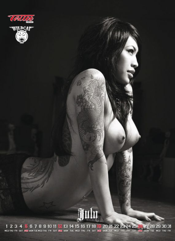 women with tattoos. woman with clever tattoos.
